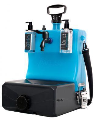 LAVESE® mobiles Handwaschbecken inkl. 1 x Handseife und 1 x Handdesinfektion und Mikrofaserhandtuch