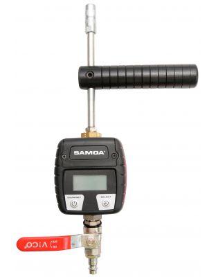 Niederdruck-Injektionspistole mit Durchflußzähler