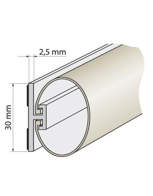 Rollladenabdichtungen 30 mm, 2 m lang