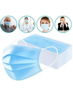 Einfacher Mundschutz blau