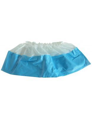 Schuhschutz PE weiss/blau 16cm hoch