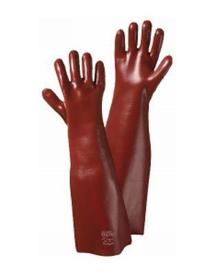 Vinyl-Handschuh REACH Conform rotbraun, flüssigkeitsabweisend
