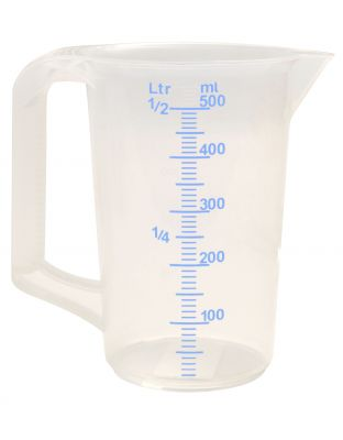 Messbecher 0,5 Liter mit Graduierung