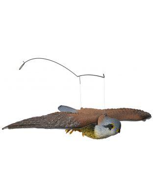 Kunststoff-Falke fliegend