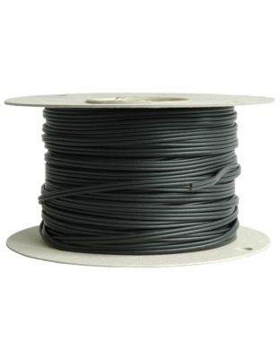 Stromzuleitung 2-adrig, schwarz 100 m Rolle