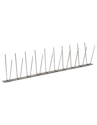 Edelstahlspitzen System 2, 2 reihig, 1 Meter Stücke