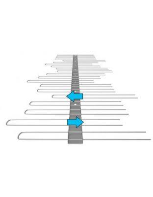 Edelstahlspitzen System 2, 1 reihig SOLAR, verstellbar