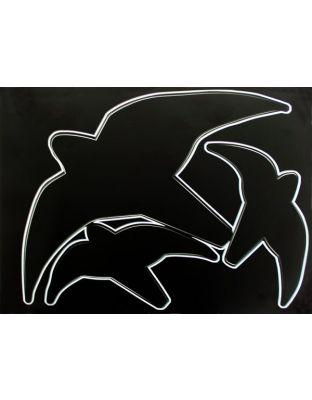 Greifvogel-Silhouetten schwarz