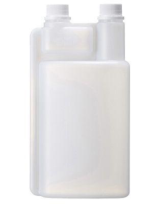 Dosierflasche HDPE 1000/50/60ml, natur, 2-neck inkl. 2 Deckel